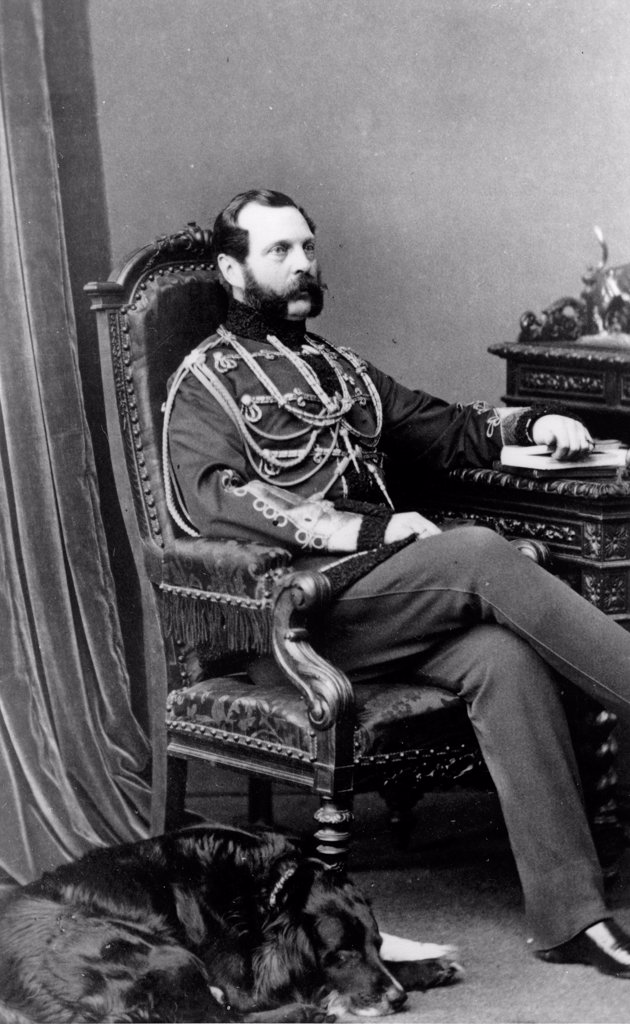 Portrait of Emperor Alexander II of Russia (1818-1881) by Nostitz, Ivan Grigorievich, Count (1824-1905)/Russian State Film and Photo Archive, Krasnogorsk/Albumin Photo/Russia/Tsar's Family. House of Romanov : Stock Photo