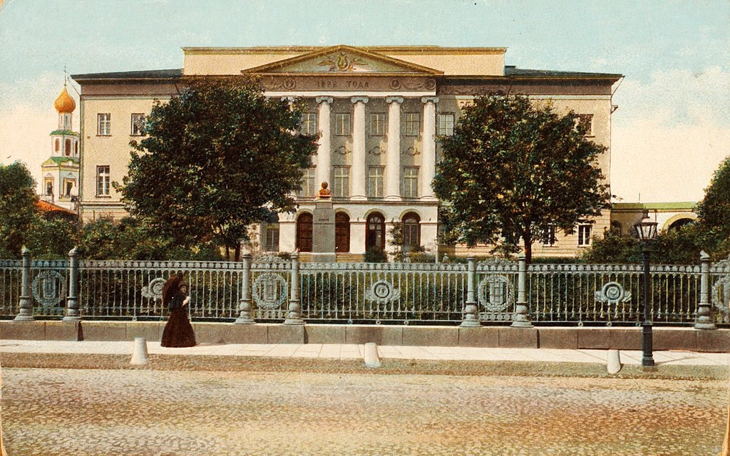 The Moscow University by Russian Photographer  /Russian State Film and Photo Archive, Krasnogorsk/1900s/Silver Gelatin Photography, Gouache/Russia/Architecture, Interior : Stock Photo