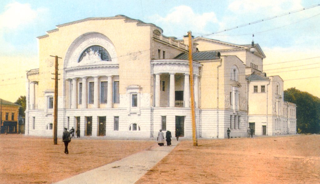 Stock Photo: 4266-18826 The Volkov Theatre in Yaroslavl by Russian Photographer  /The State Central A. Bakhrushin Theatre Museum, Moscow/1880s-1890s/Phototypie/Russia/Opera, Ballet, Theatre,Architecture, Interior