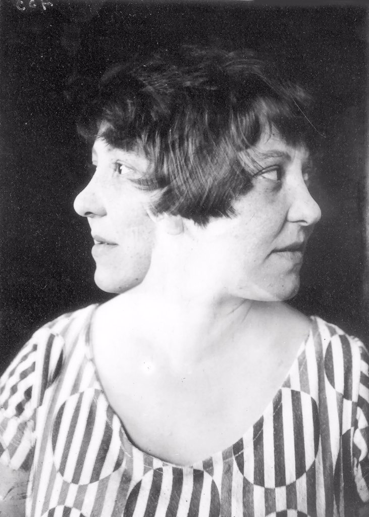 Stock Photo: 4266-18835 Double portrait of the artist and graphic designer Varvara Stepanova (1894-1958) by Rodchenko, Alexander (1891-1956)/Moscow Photo Museum (House of Photography)/1924/Photograph/Russia/Portrait