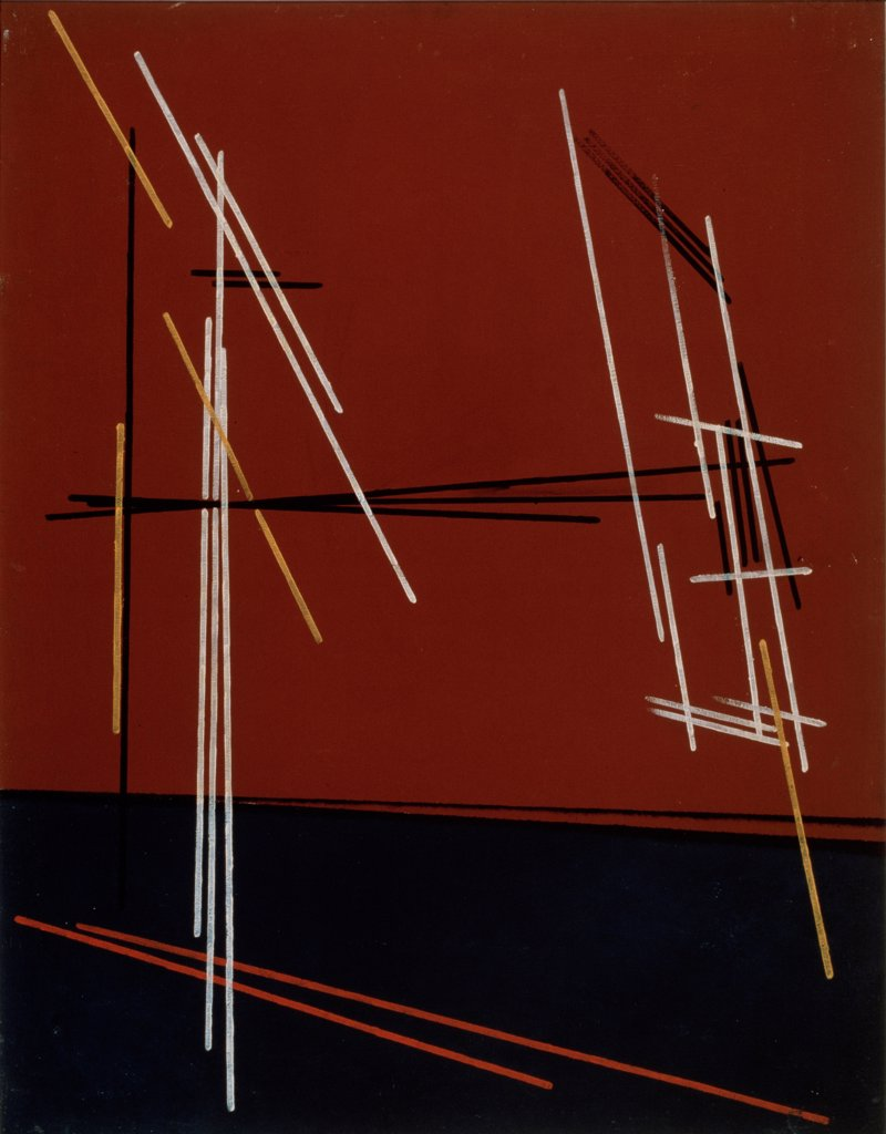Stock Photo: 4266-19042 Construction No 94 by Rodchenko, Alexander Mikhailovich (1891-1956)/ Private Collection/ 1919/ Russia/ Oil on wood/ Russian avant-garde/ 74,5x64/ Abstract Art