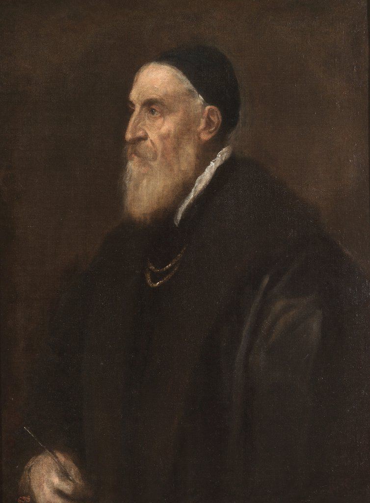 Stock Photo: 4266-19049 Self-portrait by Titian (1488-1576)/ Museo del Prado, Madrid/ ca 1567/ Italy, Venetian School/ Oil on canvas/ Renaissance/ 86x65/ Portrait