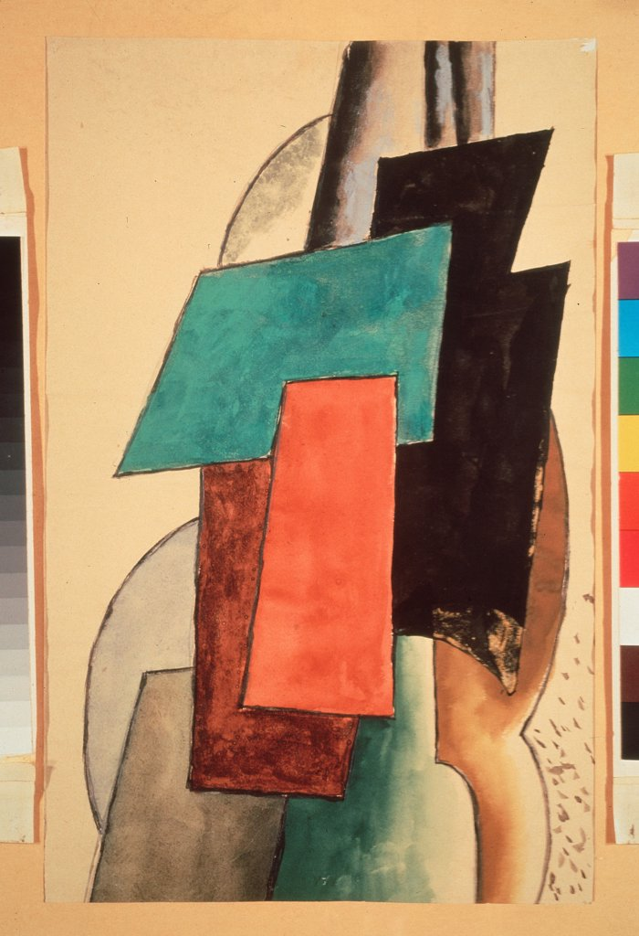 Stock Photo: 4266-19055 Painting Architectonics by Popova, Lyubov Sergeyevna (1889-1924)/ State Tretyakov Gallery, Moscow/ 1916/ Russia/ Oil on canvas/ Russian avant-garde/ 106x88,5/ Abstract Art