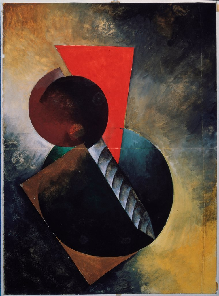 Stock Photo: 4266-19075 Light and Shade in Symmetry by Redko, Kliment Nikolayevich (1897-1956)/ Russian State Archive of Literature and Art, Moscow/ 1922/ Russia/ Tempera on paper/ Russian avant-garde/ 27,5x20/ Abstract Art
