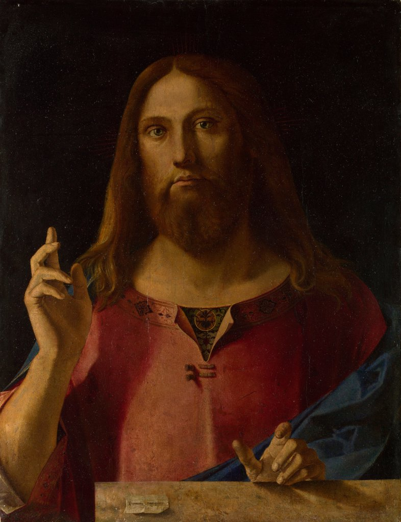 Stock Photo: 4266-19186 Salvator Mundi by Diana, Benedetto (1460-1525)/ National Gallery, London/ ca 1510-1520/ Italy, Venetian School/ Oil on wood/ Renaissance/ 76,2x59,1/ Bible