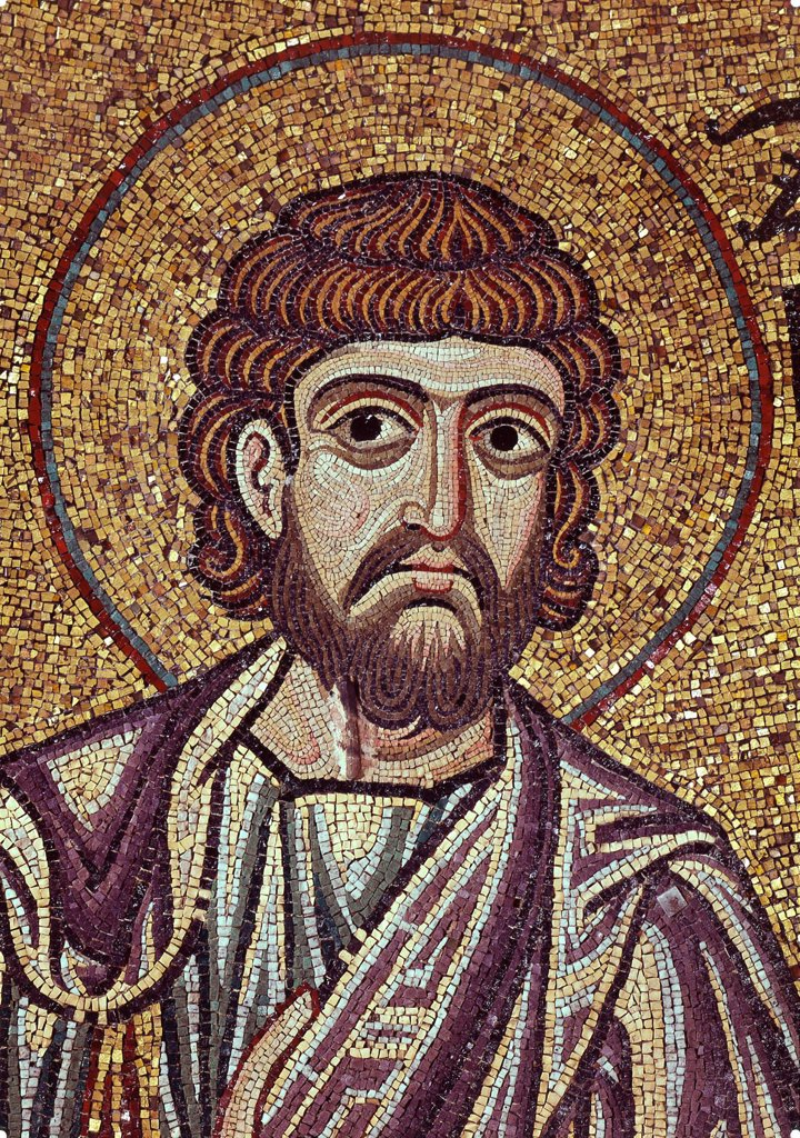 The Prophet Zechariah (Detail of Interior Mosaics in the St. Mark's Basilica) by Byzantine Master  / Saint Mark's Basilica, Venice/ 12th century/ Byzantium/ Mosaic/ Gothic/ Bible : Stock Photo