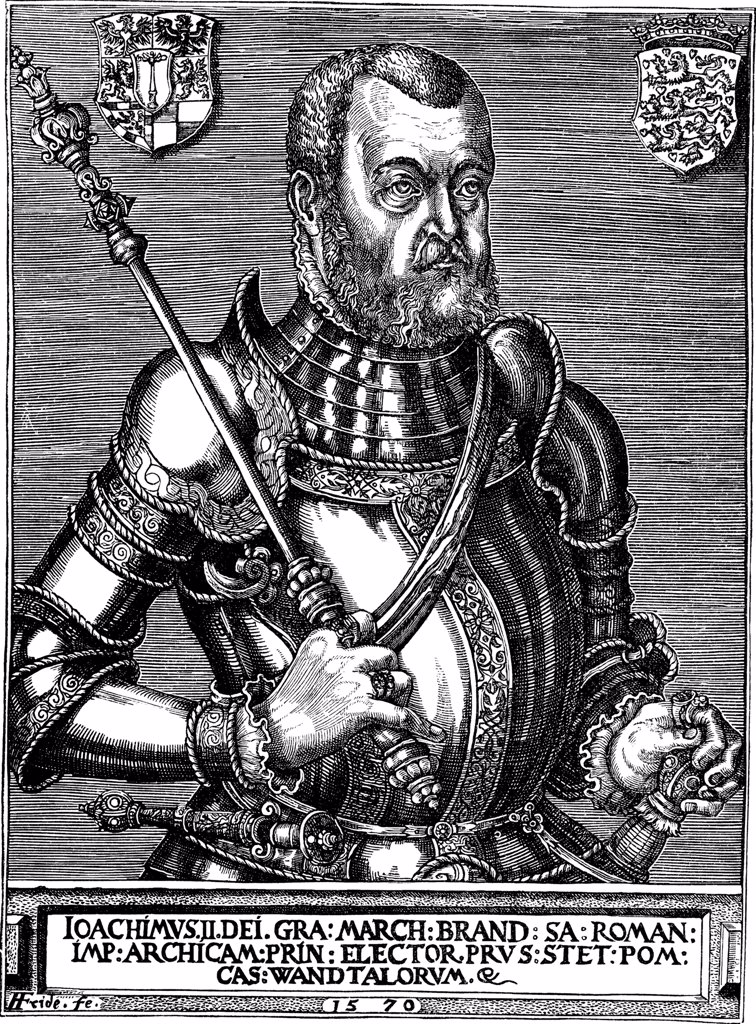 Stock Photo: 4266-1964 Male Portrait by Franz Friderich (Friederich), Copper engraving, 1570, active 1550-1580, Private Collection