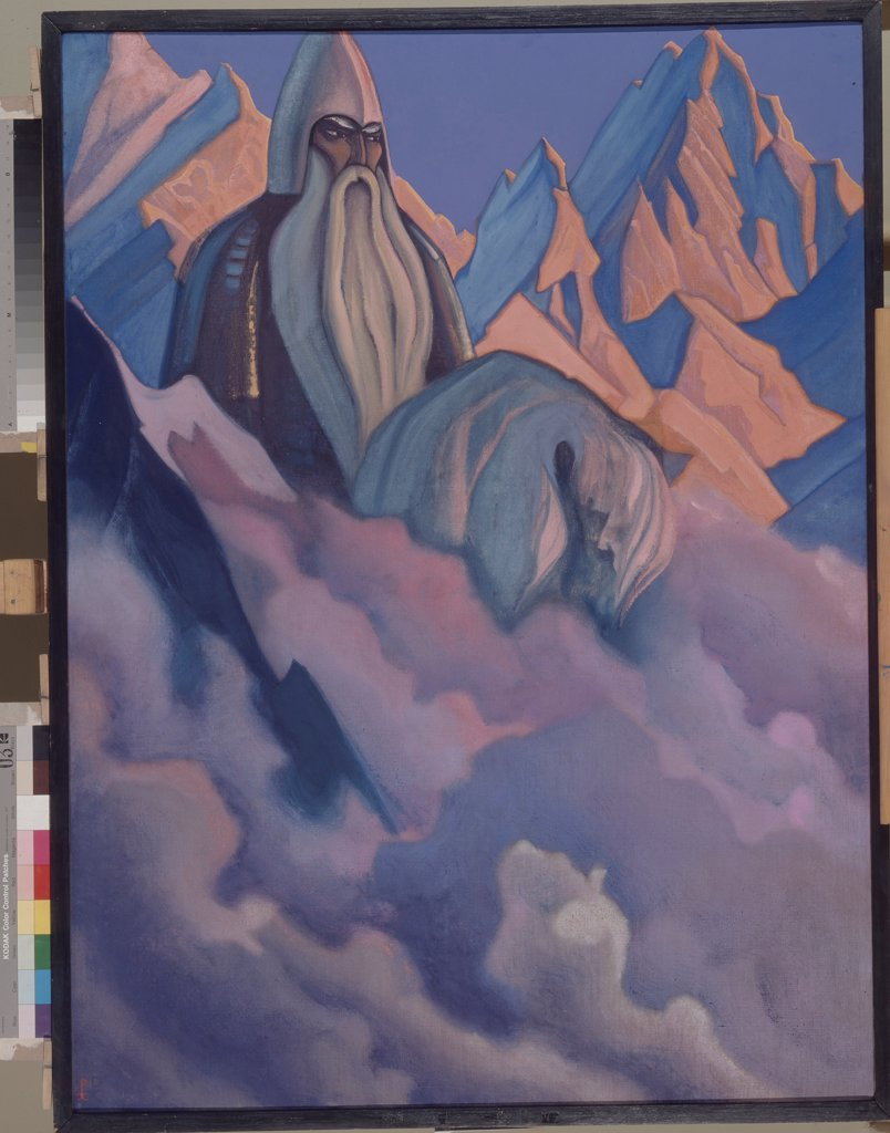 Stock Photo: 4266-19680 Svyatogor by Roerich, Nicholas (1874-1947)/ Private Collection/ 1942/ Russia/ Tempera on canvas/ Symbolism/ Mythology, Allegory and Literature