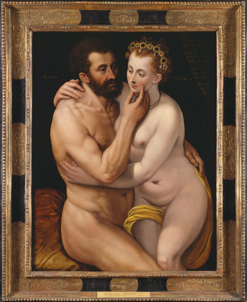 Stock Photo: 4266-19759 Mars and Venus by Floris, Frans, the Elder (1519-1570)/ Nationalmuseum Stockholm/ Flanders/ Oil on canvas/ Renaissance/ Mythology, Allegory and Literature