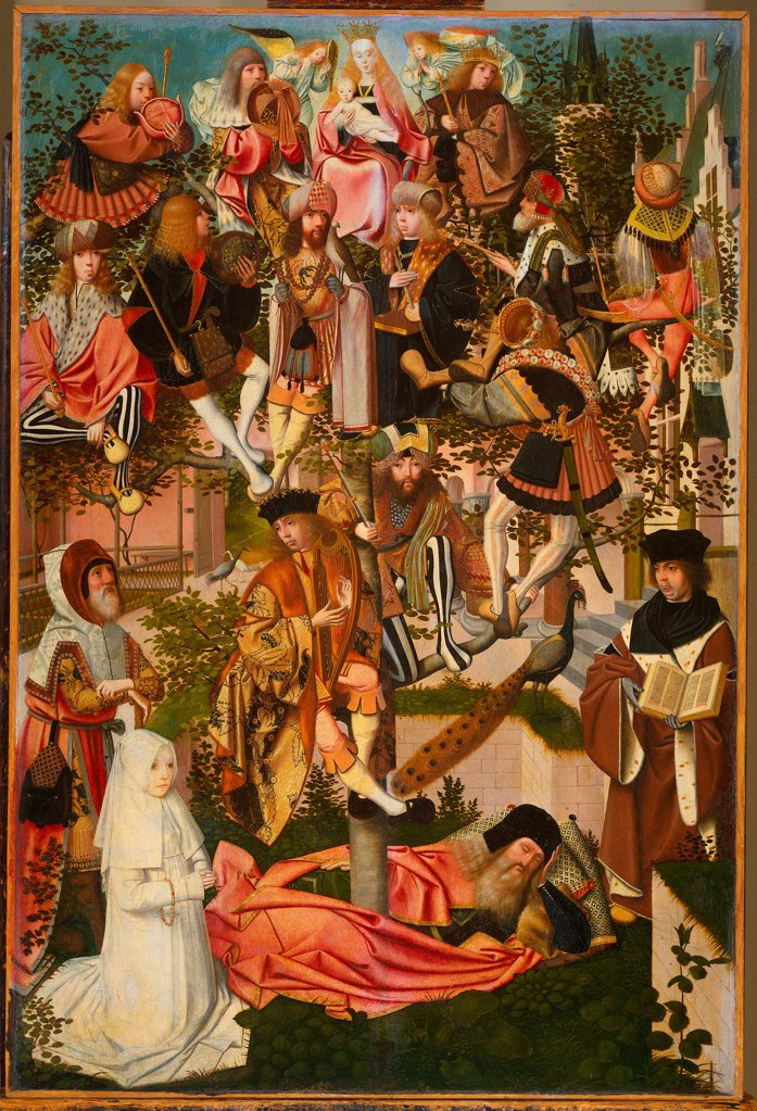 The Tree of Jesse by Geertgen tot Sint, Jans (ca. 1460-ca. 1490)/ Museum Boijmans Van Beuningen, Rotterdam/ c. 1495/ The Netherlands/ Oil on wood/ Early Netherlandish Art/ 89x59/ Bible : Stock Photo
