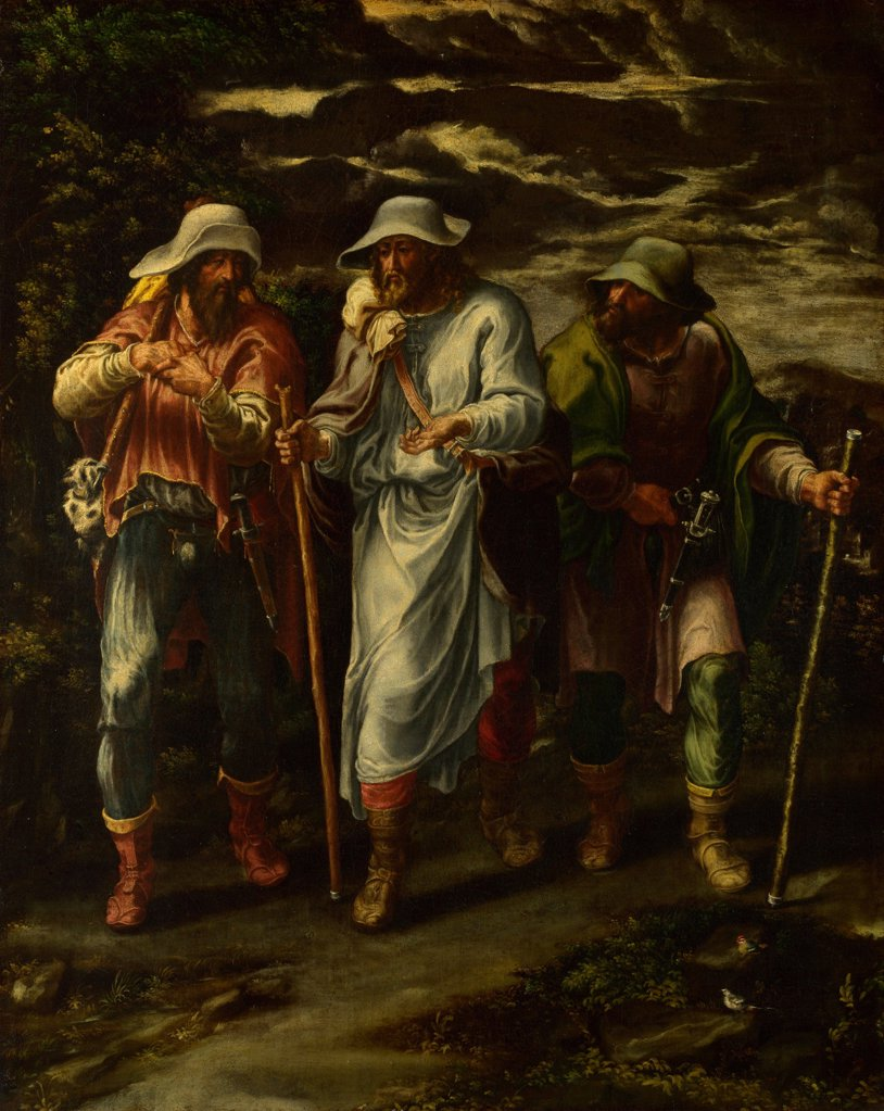 Stock Photo: 4266-20465 The Walk to Emmaus by Orsi, Lelio (1511-1587)/ National Gallery, London/ c. 1570/ Italy, North-Italian school/ Oil on canvas/ Mannerism/ 71,1x57,1/ Bible