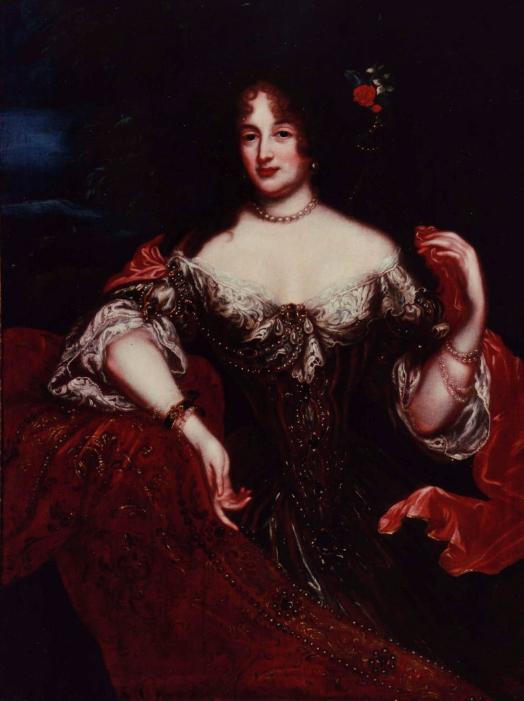 Stock Photo: 4266-20526 Portrait of Clara Elisabeth, Countess of Platen-Hallermund (1648-1700) by Anonymous  / Schloss Linden/ England/ Oil on canvas/ Baroque/ Portrait