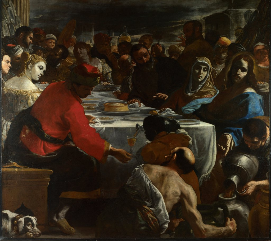The Marriage Feast At Cana by Preti, Mattia (1613-1699)/ National Gallery, London/ c. 1655-1656/ Italy, Roman School/ Oil on canvas/ Baroque/ 203,2x226/ Bible : Stock Photo