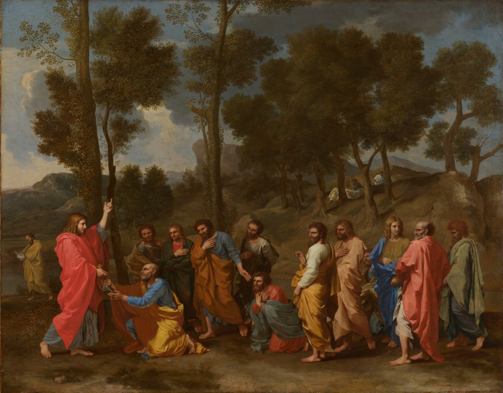 Seven Sacraments: Ordination by Poussin, Nicolas (1594-1665)/ National Gallery, London/ ca 1637-1640/ France/ Oil on canvas/ Baroque/ 95,2x120,6/ Bible,Mythology, Allegory and Literature : Stock Photo