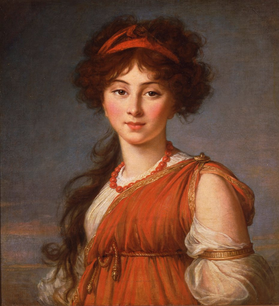 Varvara Ivanovna Naryshkina, nee Ladomirsky (1785-1840) by Vigee-Lebrun, Marie Louise Elisabeth (1755-1842)/ Columbus Museum of Art, Ohio/ 1800/ France/ Oil on canvas/ Classicism/ 63,5x54,5/ Portrait : Stock Photo