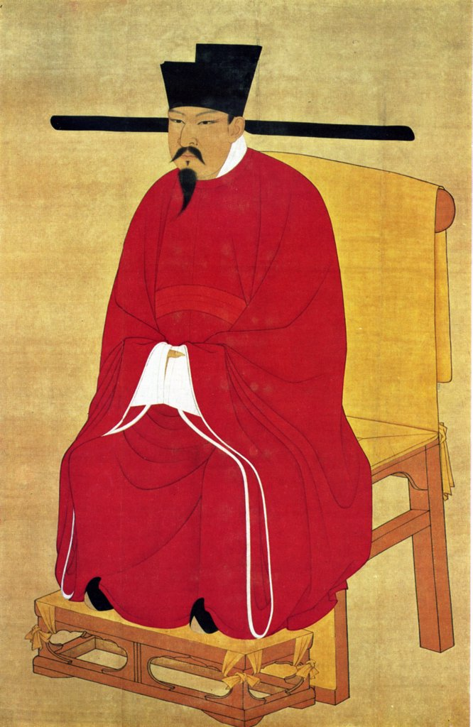 Portrait of mature man by chinese court painter, watercolor on silk, active 1068-1085, 11th century, Taiwan, Taipei, National Palace Museum, 176, 4x114 : Stock Photo
