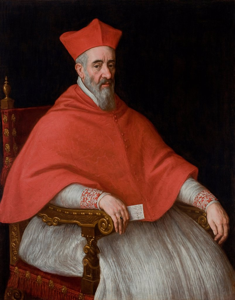 Portrait of a Cardinal Giovanni Dolfin (1545-1622) by Bassano, Leandro (1557-1622)/ Musei Civici, Padova/ Italy, Venetian School/ Oil on canvas/ Mannerism/ 127x99/ Portrait : Stock Photo