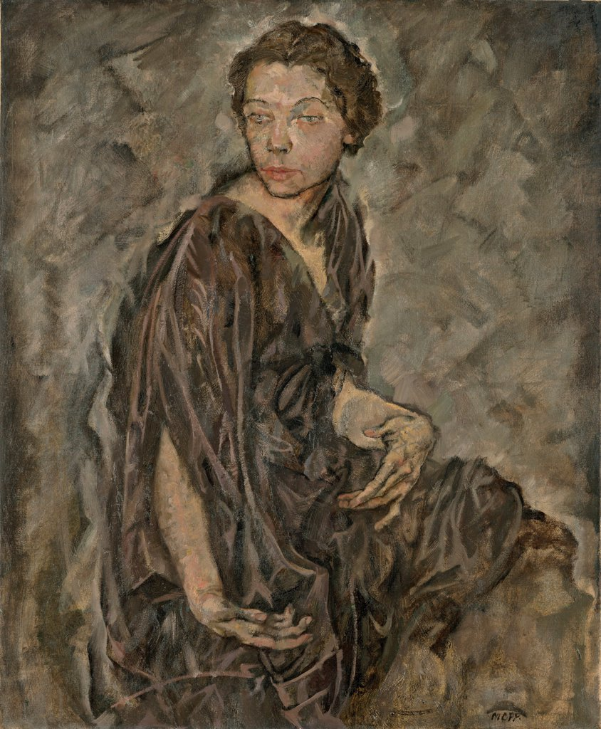 Stock Photo: 4266-22020 Portrait of Tilla Durieux by Oppenheimer, Max (1885-1954)/ Leopold Museum, Vienna/ 1912/ Austria/ Oil on canvas/ Expressionism/ 95,5x78,9/ Portrait