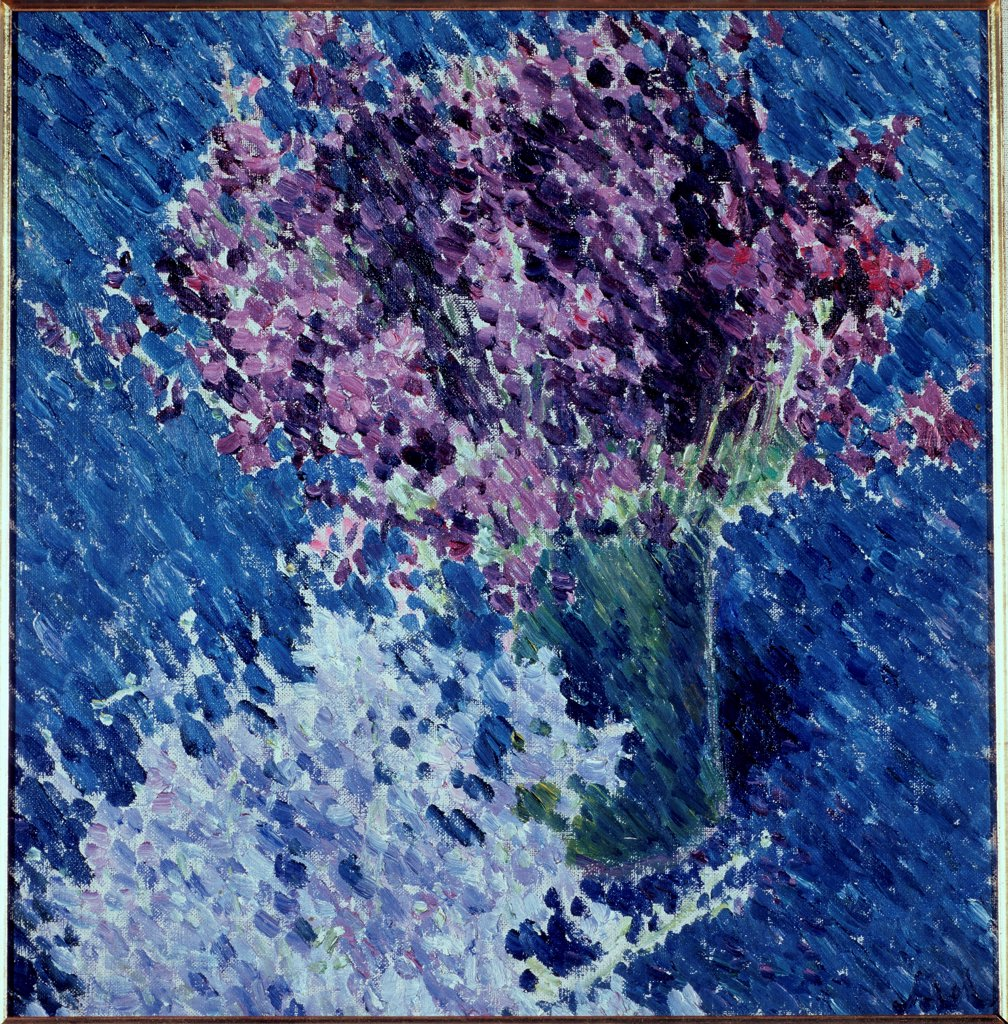 Stock Photo: 4266-22279 Flowers (Two shrubs) by Larionov, Mikhail Fyodorovich (1881-1964)/ State Tretyakov Gallery, Moscow/ 1904/ Russia/ Oil on canvas/ Expressionism/ 48,2x47,5/ Still Life