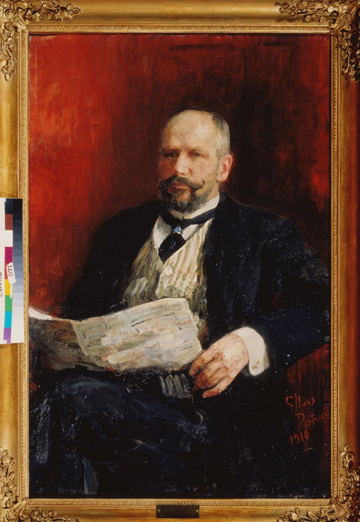 Stock Photo: 4266-22421 Portrait of the Prime minister Pyotr A. Stolypin (1862-1911) by Repin, Ilya Yefimovich (1844-1930)/ State A. Radishchev Art Museum, Saratov/ 1910/ Russia/ Oil on canvas/ Russian Painting, End of 19th - Early 20th cen./ 116x76/ Portrait