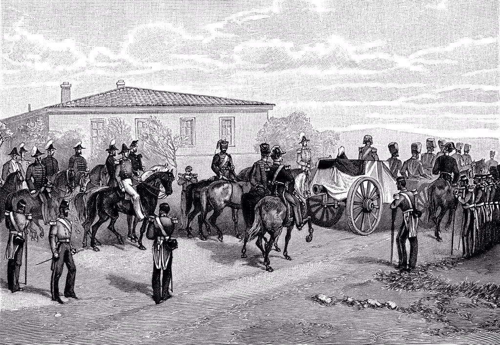 Battle of Sevastopol by William Simpson, Woodcut, 1855, 1832-1898, Russia, Sevastopol, State Museum of Defence of Sevastopol : Stock Photo