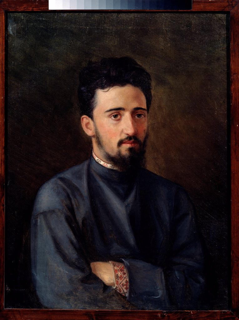 Portrait of the author Vsevolod M. Garshin (1855-1888) by Malyshev, Mikhail Georgievich (1852-1914)/ Russian State Archive of Literature and Art, Moscow/ 1878/ Russia/ Oil on canvas/ Russian Painting of 19th cen./ Portrait : Stock Photo