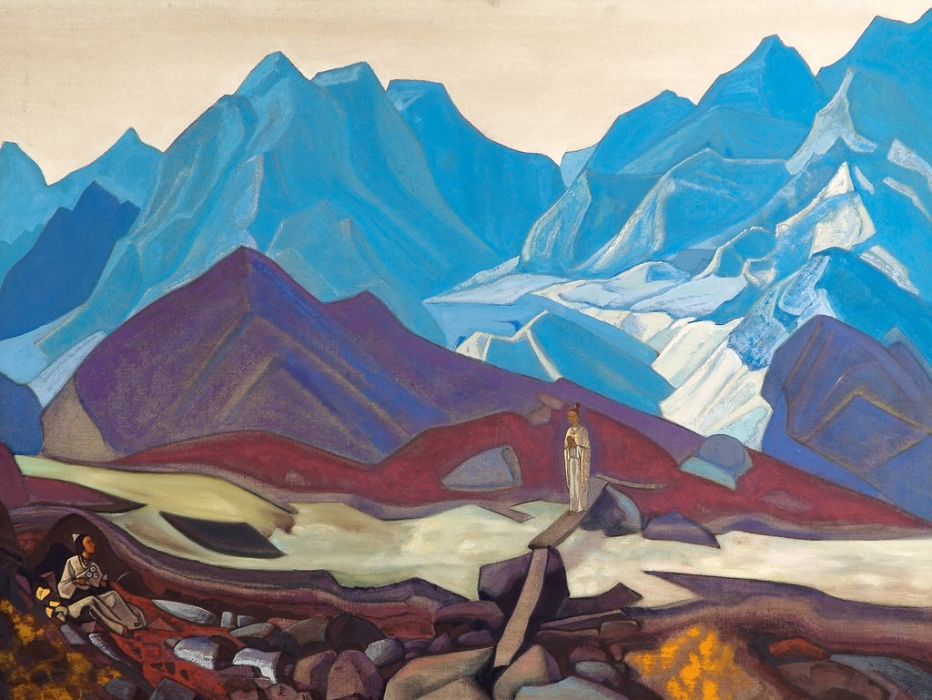 Stock Photo: 4266-2330 Roerich, Nicholas (1874-1947) Nicholas Roerich Museum, New York 1936 104x134,5 Tempera on canvas Symbolism Russia Mythology, Allegory and Literature
