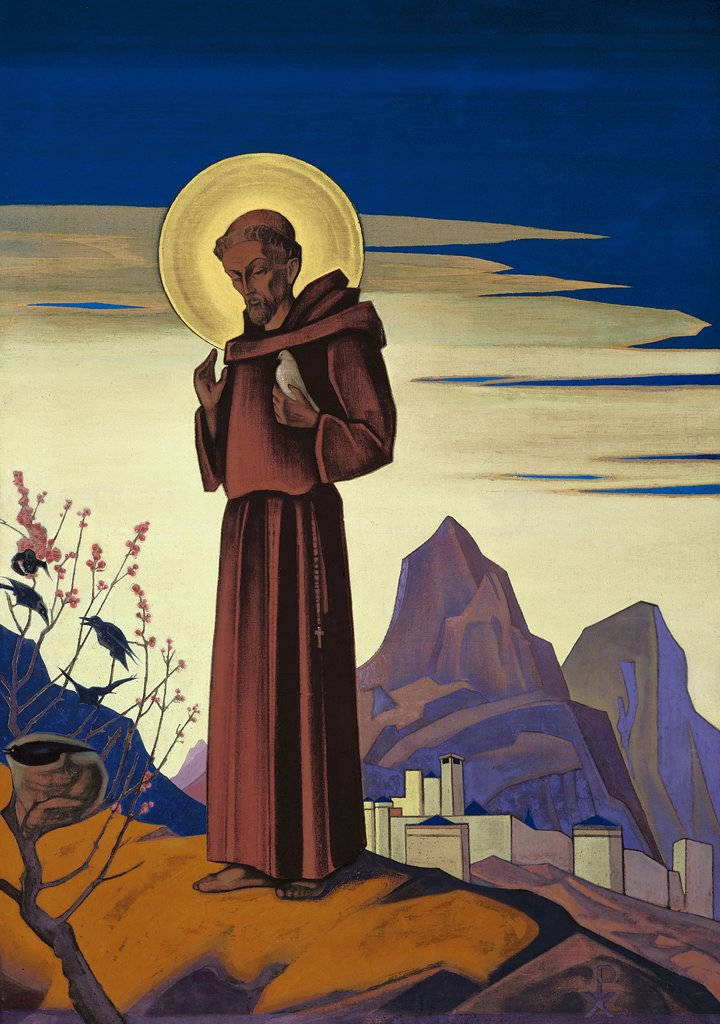 Stock Photo: 4266-2341 Roerich, Nicholas (1874-1947) Nicholas Roerich Museum, New York 1932 152,5x107 Tempera on canvas Symbolism Russia Bible