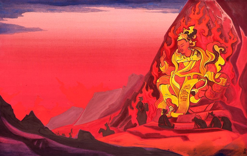 Stock Photo: 4266-2343 Roerich, Nicholas (1874-1947) Nicholas Roerich Museum, New York 1933 61x96,5 Tempera on canvas Symbolism Russia Mythology, Allegory and Literature