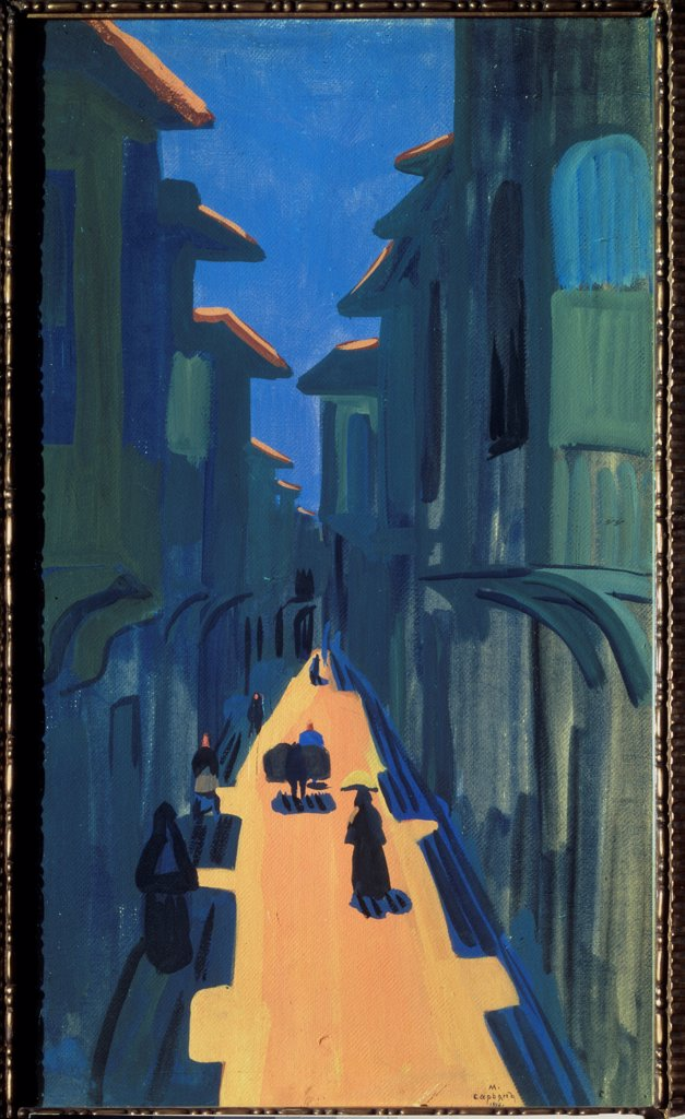 Stock Photo: 4266-23510 A street. Midday. Constantinople by Sarjan, Martiros Sergeyevich (1880-1972)/ State Tretyakov Gallery, Moscow/ 1910/ Armenia/ Tempera on cardboard/ Postimpressionism/ 66x39/ Landscape