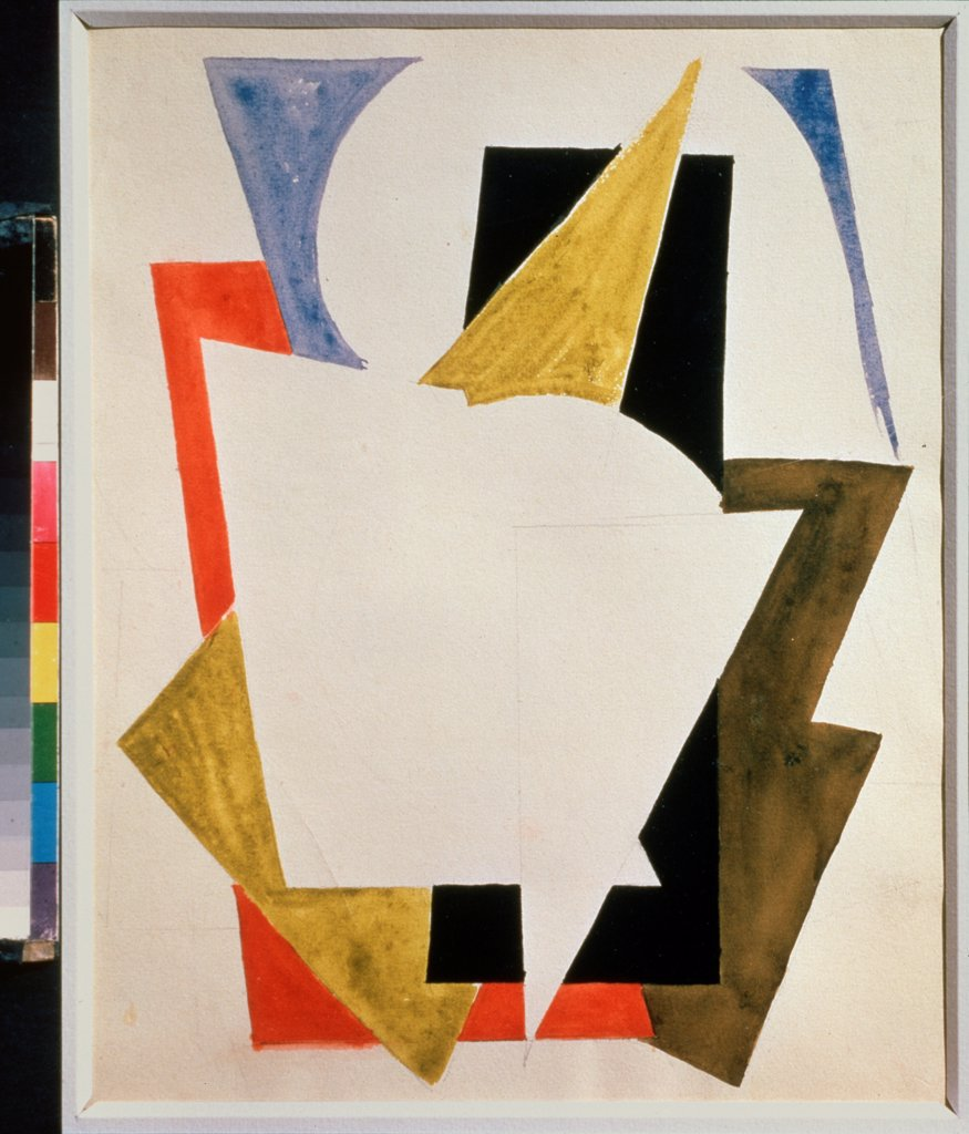 Stock Photo: 4266-23707 Composition by Udaltsova, Nadezhda Andreyevna (1885-1961)\ Private Collection\ 1916\ Gouache on paper\ Russia\ Russian avant-garde\ Abstract Art\ Painting
