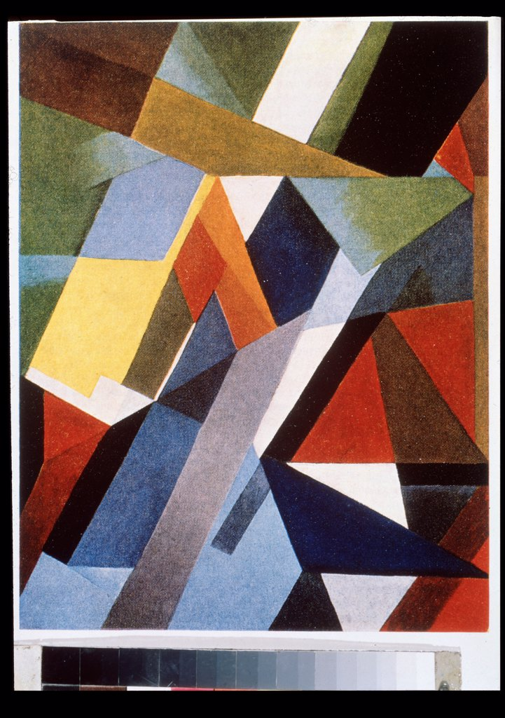 Stock Photo: 4266-24164 Colour rhythm by Exter, Alexandra Alexandrovna (1882-1949)\ Private Collection\ 1921\ Oil on canvas\ 36,2x28\ Russia\ Russian avant-garde\ Abstract Art\ Painting
