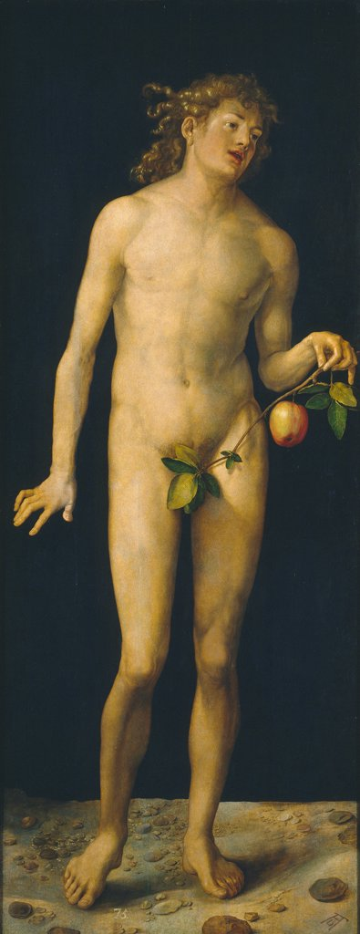 Stock Photo: 4266-24316 Adam by Durer, Albrecht (1471-1528)\ Museo del Prado, Madrid\ 1507\ Oil on wood\ 209x81\ Germany\ Renaissance\ Bible\ Painting