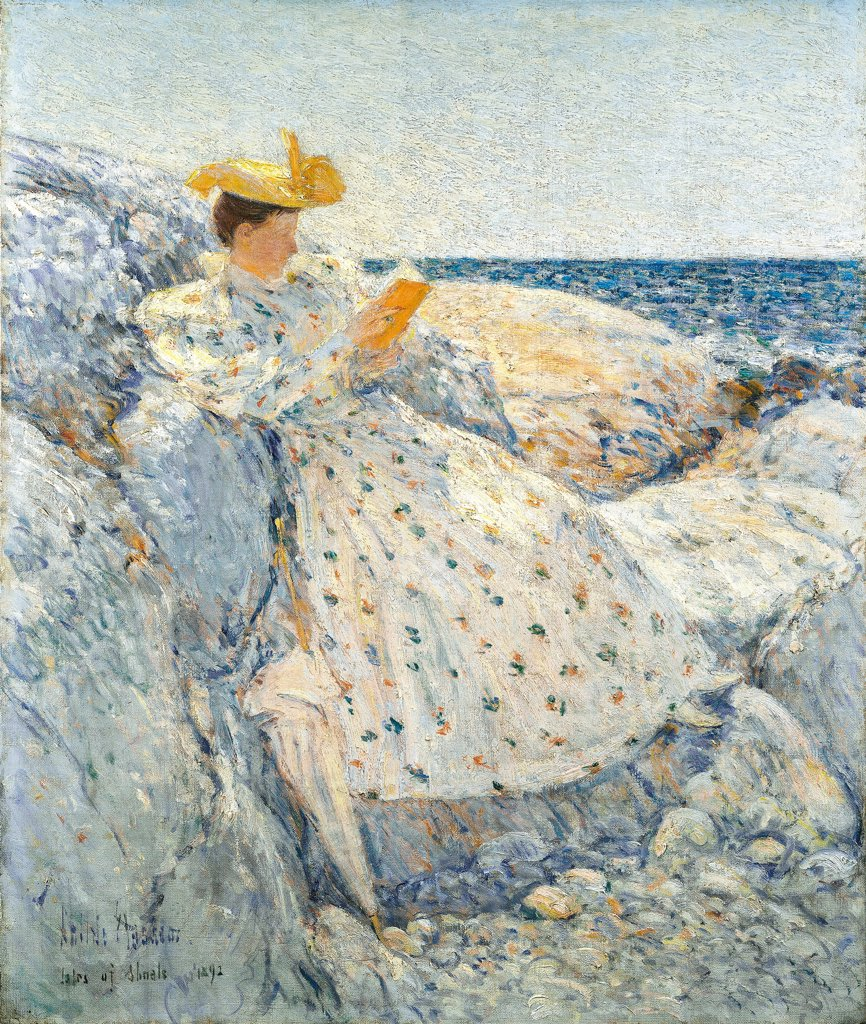 Summer Sunlight (Isles of Shoals) by Hassam, Childe (1859-1935)\ Israel Museum, Jerusalem\ 1892\ Oil on canvas\ 51,4x61,5\ The United States\ Impressionism\ Landscape,Genre\ Painting : Stock Photo