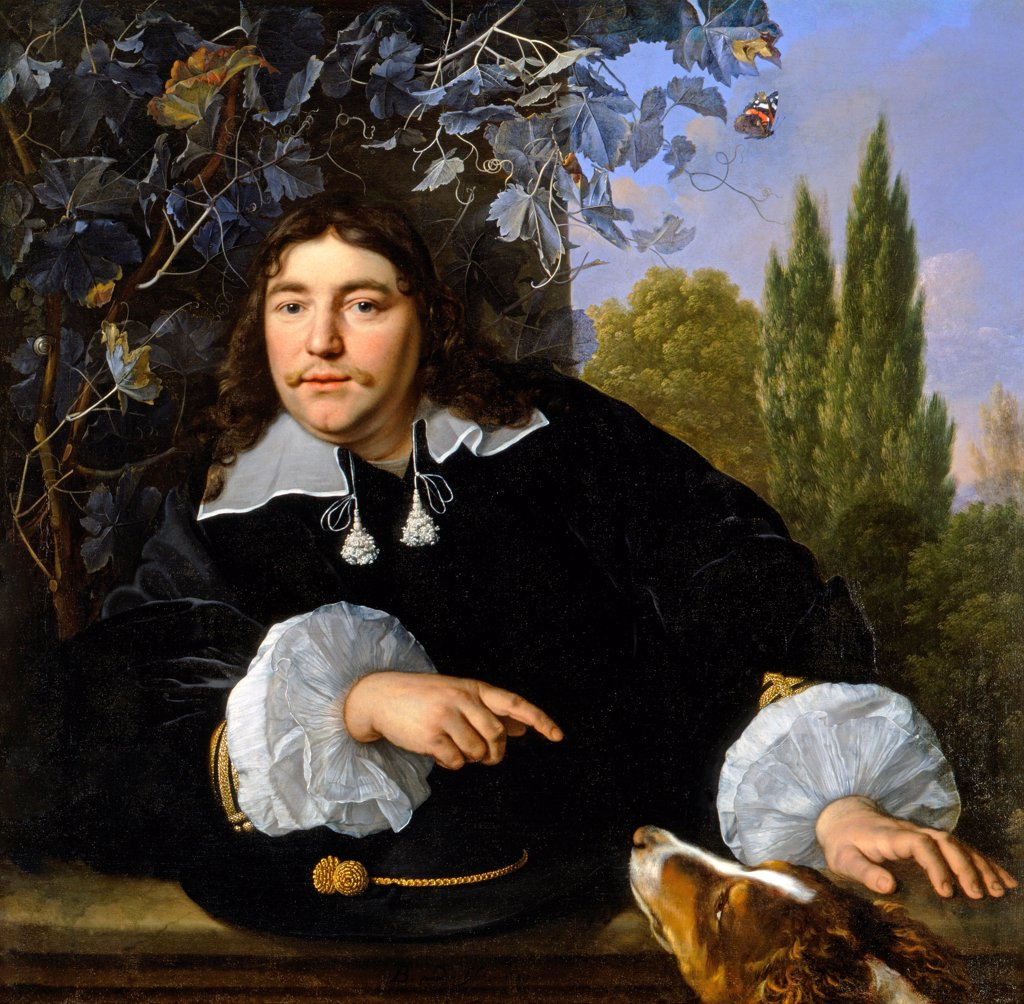 Stock Photo: 4266-24375 Self-Portrait by Helst, Bartholomeus van der (1613-1670)\ The Toledo Museum of Art, Ohio\ 1655\ Oil on canvas\ 96,5x99\ Holland\ Baroque\ Portrait\ Painting