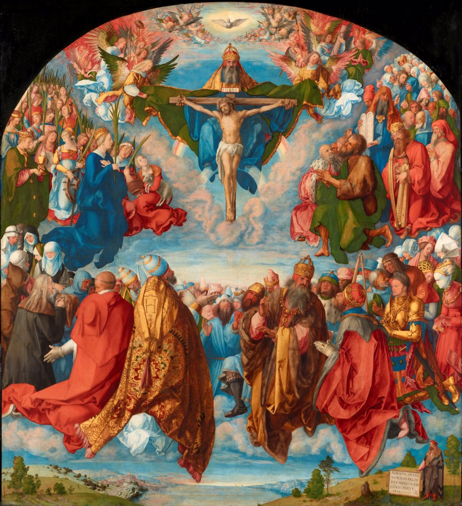 Stock Photo: 4266-24615 The Adoration of the Trinity (Landauer Altarpiece) by Durer, Albrecht (1471-1528)\ Art History Museum, Vienne\ 1511\ Oil on canvas\ 135x123,4\ Germany\ Renaissance\ Bible\ Painting
