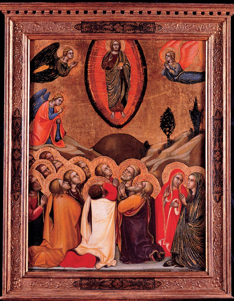 The Ascension by Barnaba da Modena (c. 1328 Ð c. 1386)\ Musei Capitolini, Rome\ 1374\ Tempera on panel\ 59x46\ Italy, School of Lombardy\ Gothic\ Bible\ Painting : Stock Photo