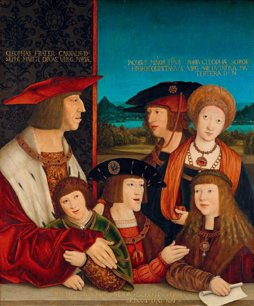 Stock Photo: 4266-24974 Portrait of Emperor Maximilian I with His Family by Strigel, Bernhard (ca 1460-1528)\ Art History Museum, Vienne\ 1516-1520\ Oil on wood\ 72,8x60,4\ Germany\ Renaissance\ Portrait\ Painting