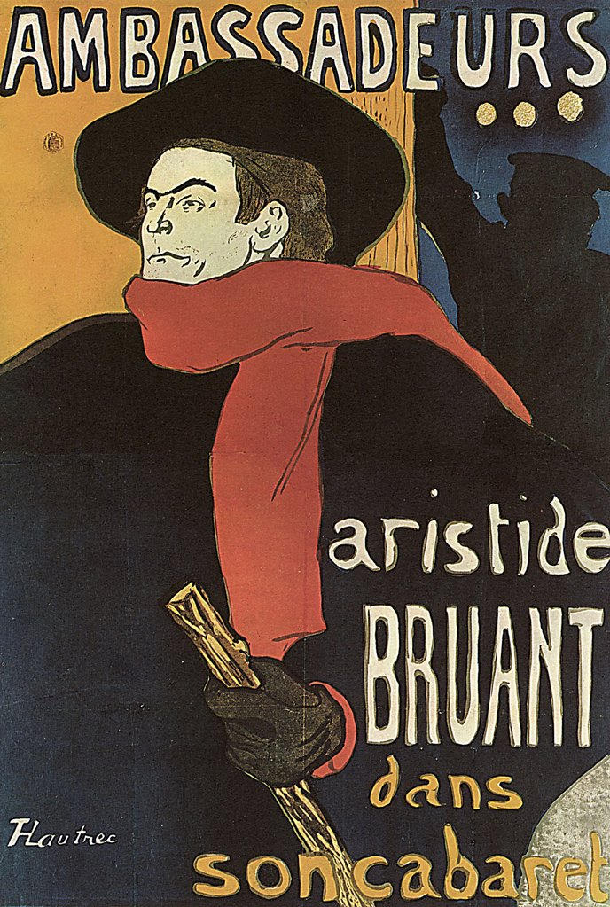 Stock Photo: 4266-2564 Poster by Henri de Toulouse-Lautrec, Colour lithograph, 1892, 1864-1901, Russia, Moscow, State A. Pushkin Museum of Fine Arts, 137x95