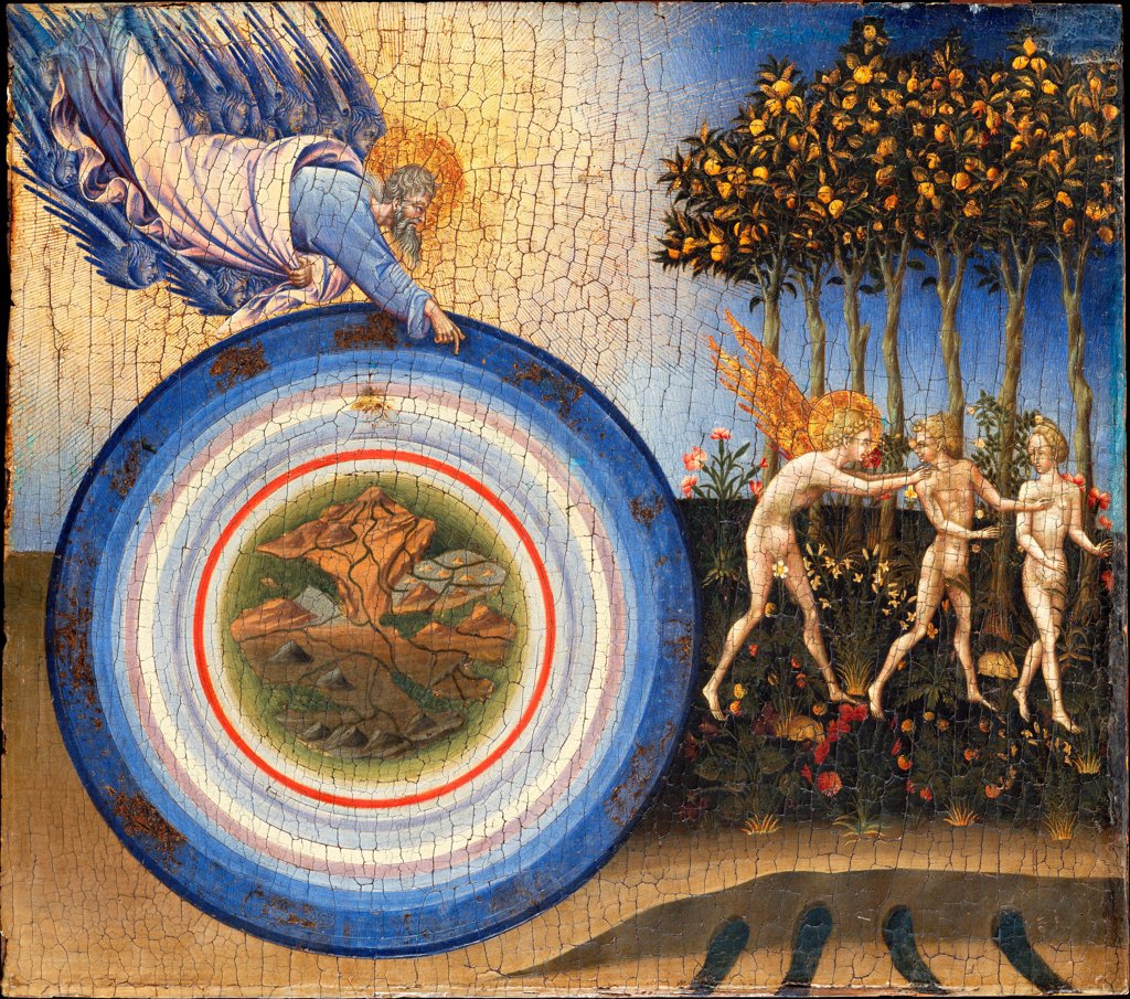 Stock Photo: 4266-25648 The Creation and the Expulsion from the Paradise by Giovanni di Paolo (ca 1403-1482)\ Metropolitan Museum of Art, New York\ 1445\ Tempera on panel\ 46,4x52,1\ Italy, School of Siena\ Renaissance\ Bible\ Painting