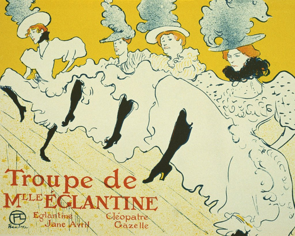 Stock Photo: 4266-2567 Poster by Henri de Toulouse-Lautrec, Colour lithograph, 1896, 1864-1901, Russia, Moscow, State A. Pushkin Museum of Fine Arts, 61, 5x80