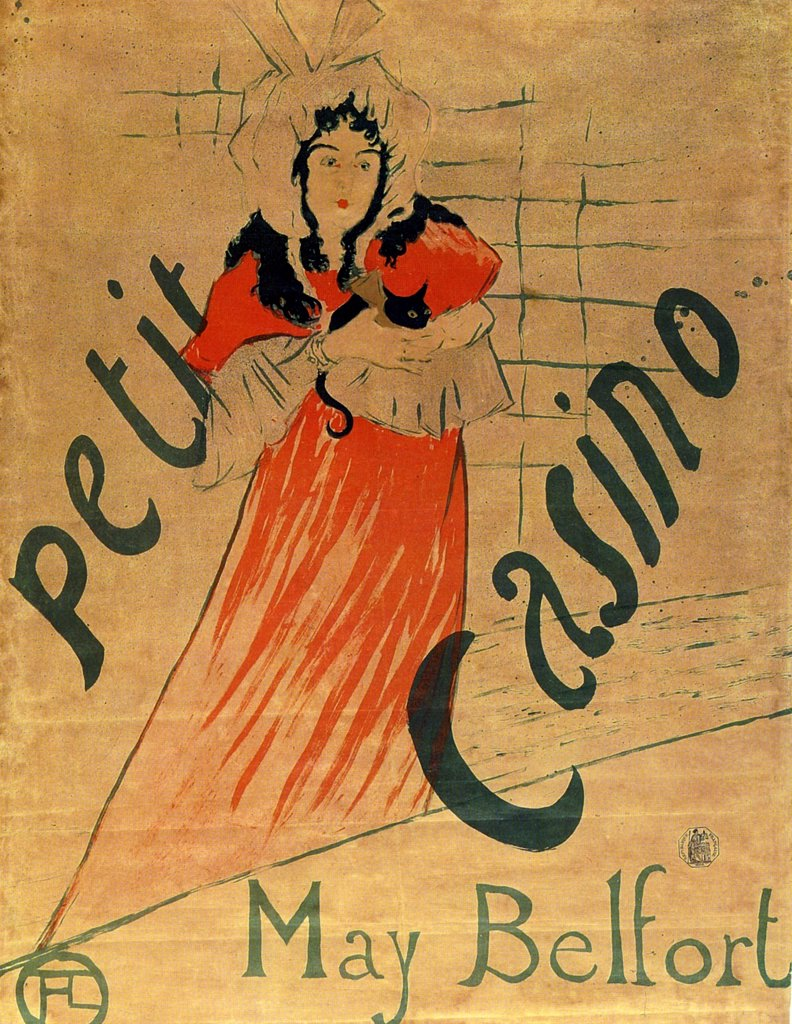 Stock Photo: 4266-2569 Poster by Henri de Toulouse-Lautrec, Colour lithograph, 1895, 1864-1901, Russia, Moscow, State A. Pushkin Museum of Fine Arts, 62, 4x81