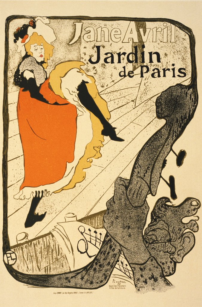 Poster by Henri de Toulouse-Lautrec, Colour lithograph, 1893, 1864-1901, Russia, Moscow, State A. Pushkin Museum of Fine Arts, 130x94 : Stock Photo