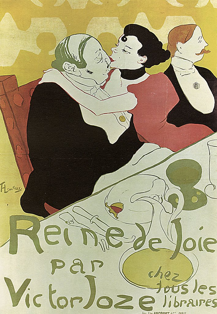 Stock Photo: 4266-2571 Poster by Henri de Toulouse-Lautrec, Colour lithograph, 1892, 1864-1901, Russia, Moscow, State A. Pushkin Museum of Fine Arts, 130x89, 5