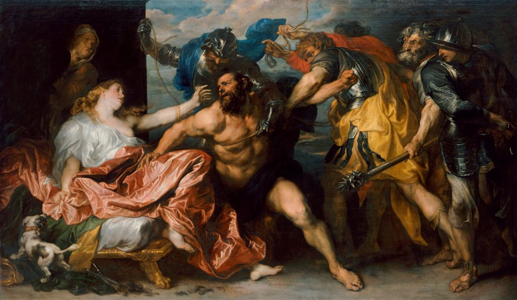 Samson and Delilah by Dyck, Sir Anthonis, van (1599-1641)\ Art History Museum, Vienne\ 1628Ð1630\ Oil on canvas\ 146x254\ Flanders\ Baroque\ Bible\ Painting : Stock Photo