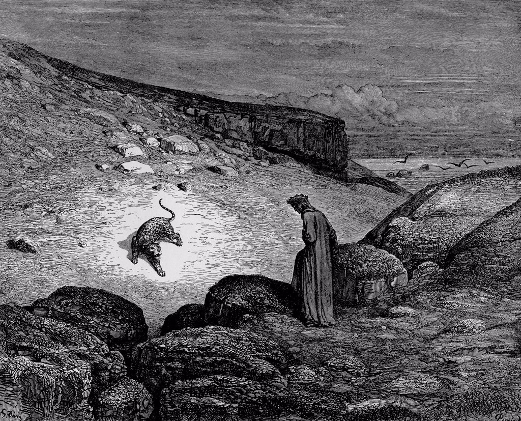 Divina Commedia by Gustave Dore, woodcut, 1861, 1832-1883, Private Collection, : Stock Photo