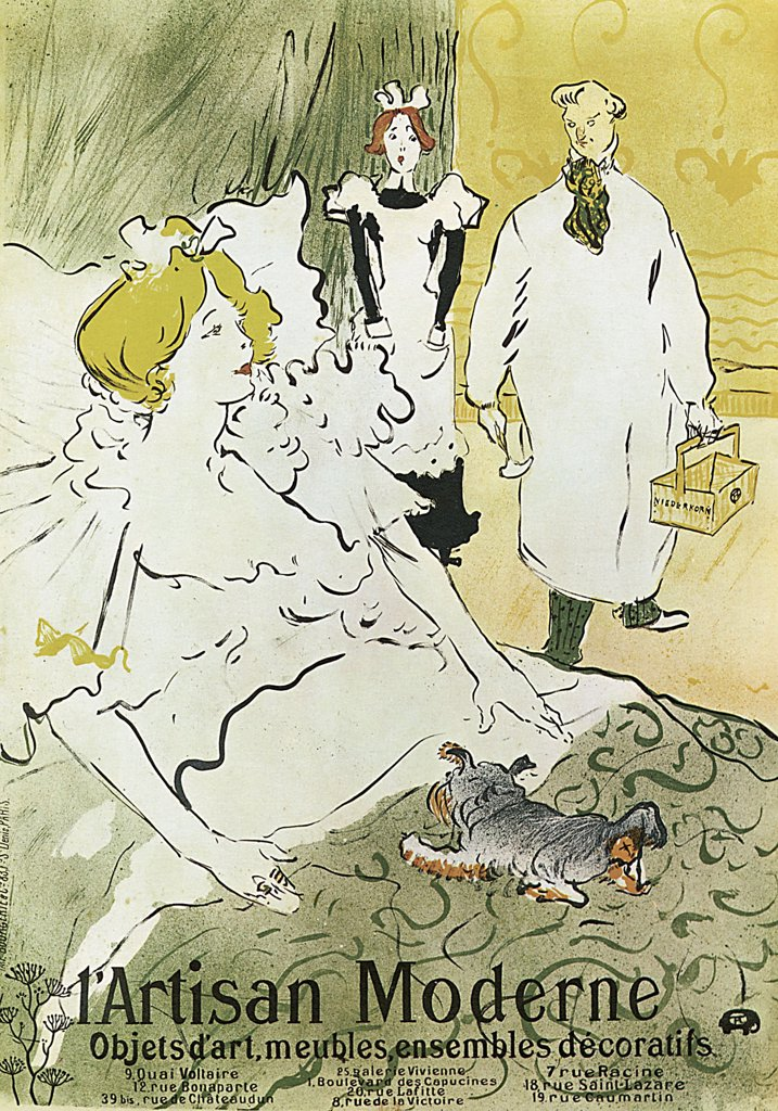 Stock Photo: 4266-2606 Patient by Henri deToulouse-Lautrec, colour lithograph, 1894, 1864-1901, Russia, Moscow, State A. Pushkin Museum of Fine Arts, 90x64