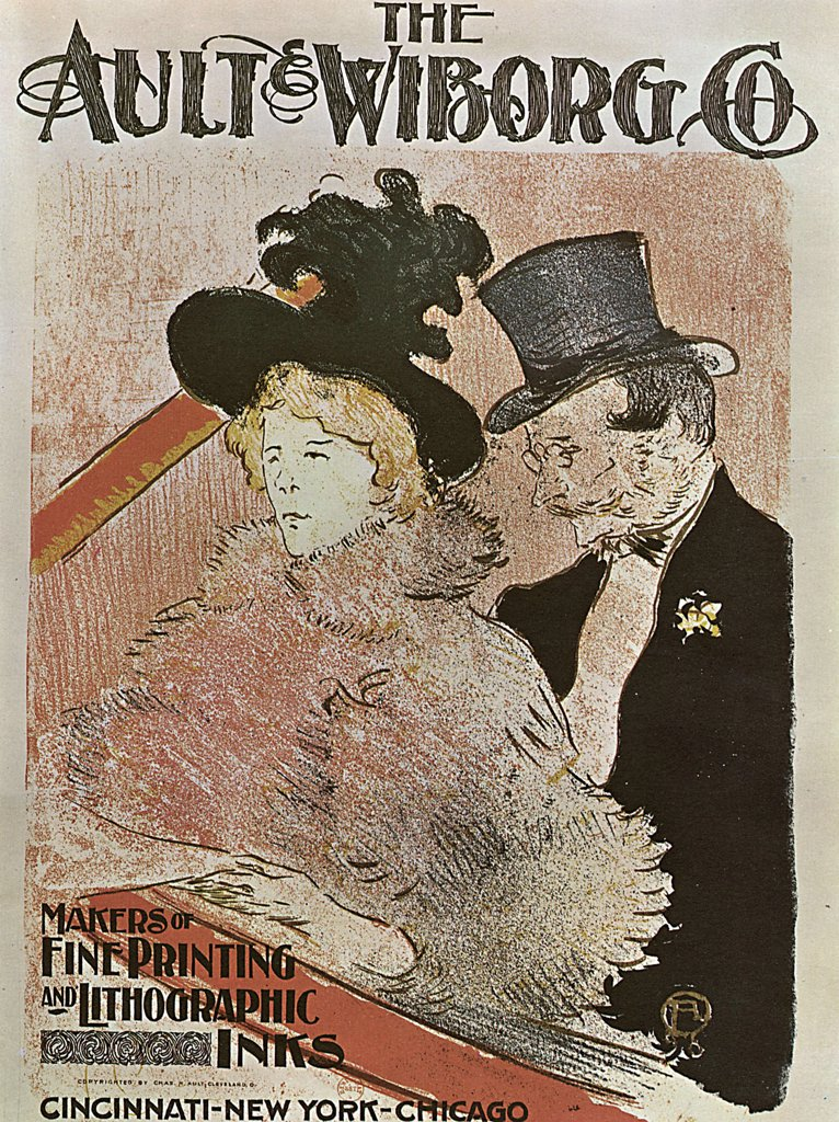 Stock Photo: 4266-2607 Poster by Henri de Toulouse-Lautrec, colour lithograph, 1896, 1864-1901, Russia, Moscow, State A. Pushkin Museum of Fine Arts, 35x27