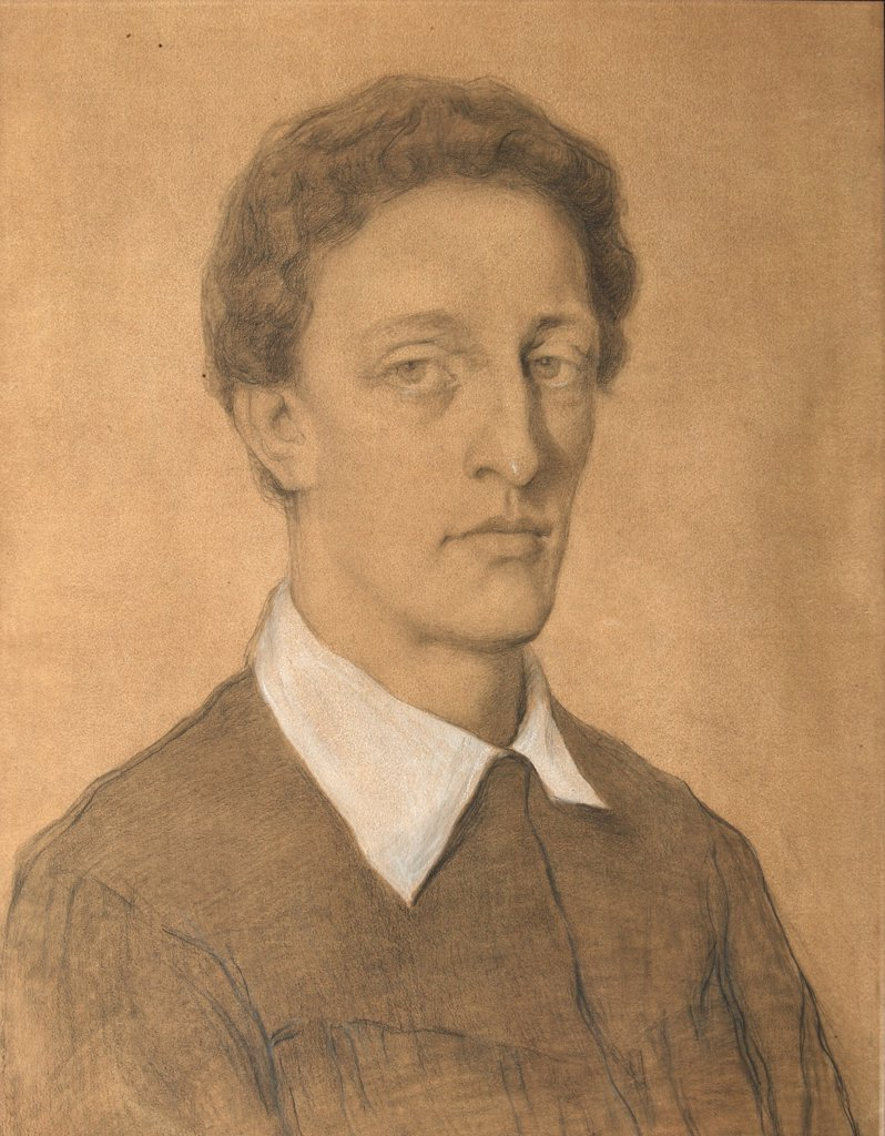Portrait of Alexander Blok by Tatyana Nikolaevna Gippius, pencil, watercolour and white colour on paper, 1906, 1877-?, Russia, St Petersburg, Institute of Russian Literature IRLI (Pushkin-House) : Stock Photo