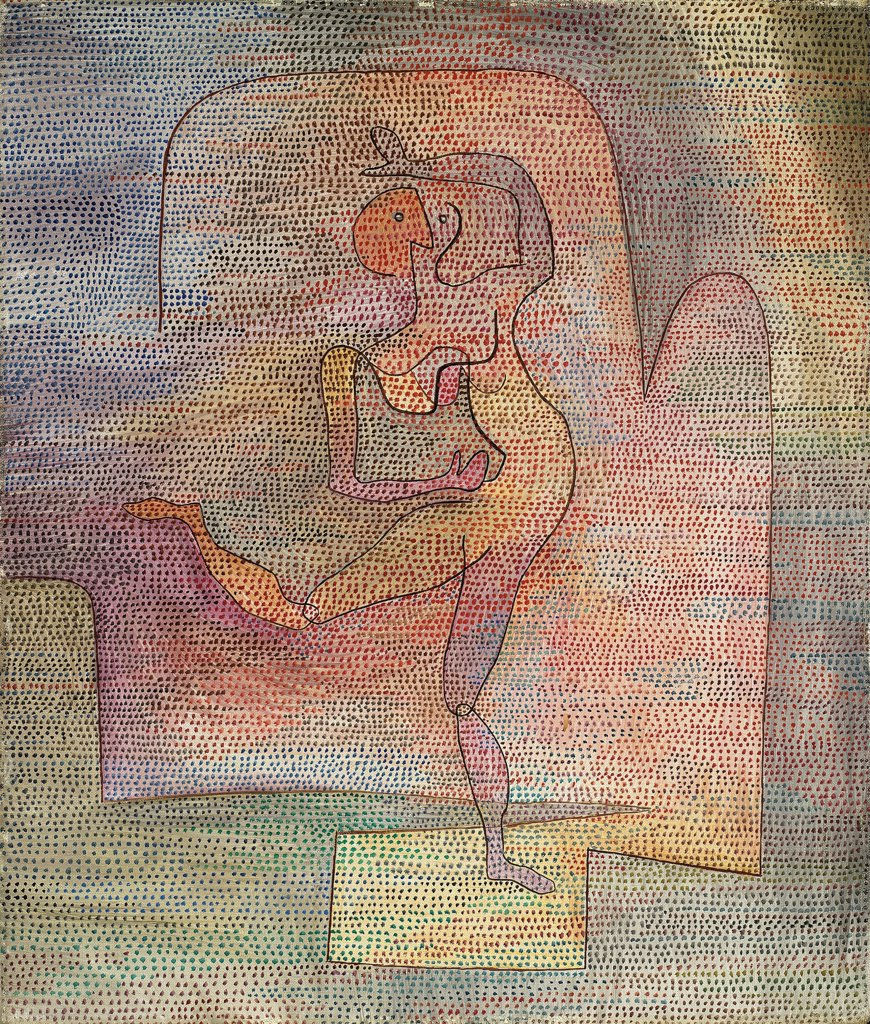 Stock Photo: 4266-26982 Dancer by Klee, Paul (1879-1940) \ Private Collection \ 1932 \ Germany \ Oil on canvas \ Painting \ Music, Dance,Genre
